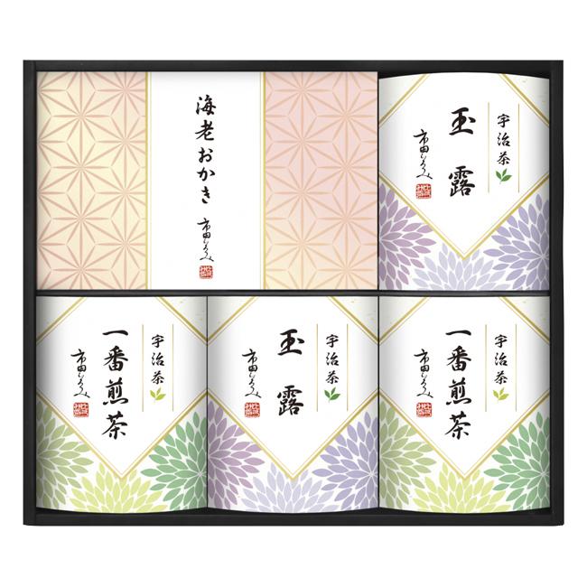 市田ひろみ 宇治茶ティーバッグ&米菓ギフト No.40