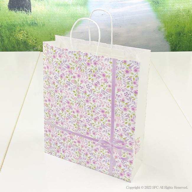 手提げ紙袋 紫花 2才